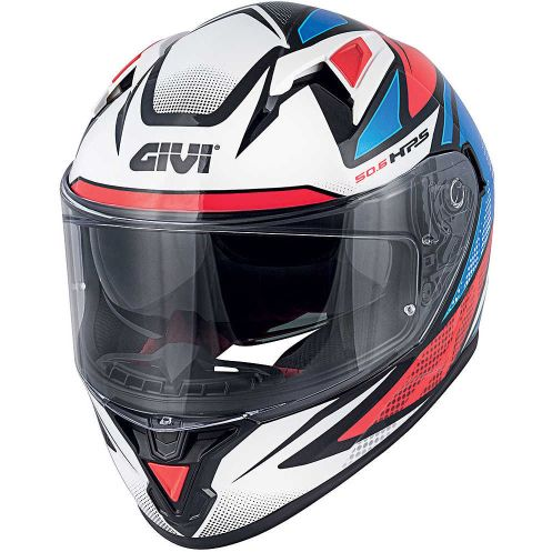 CAPACETE GIVI 50.6 - G.WHITE/BLUE/RED - XL/61